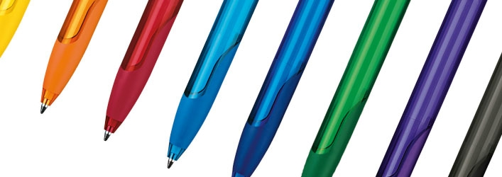 Challenger soft clear printed pens